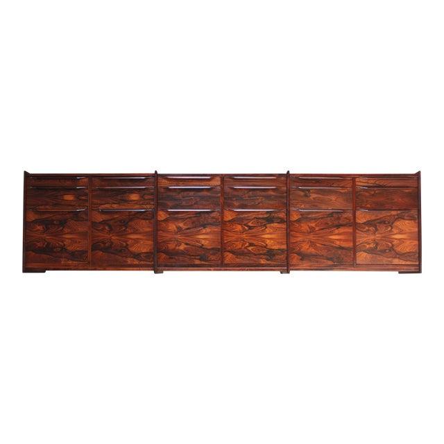 Monumental Scandinavian Modern Rosewood Floating Credenza by Juul Christensen - Image 1 of 11