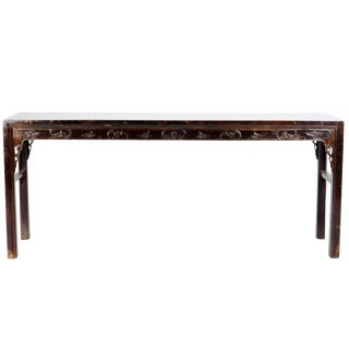 """20th Century Chinese 85"""" Wide Altar Console Table For Sale"""