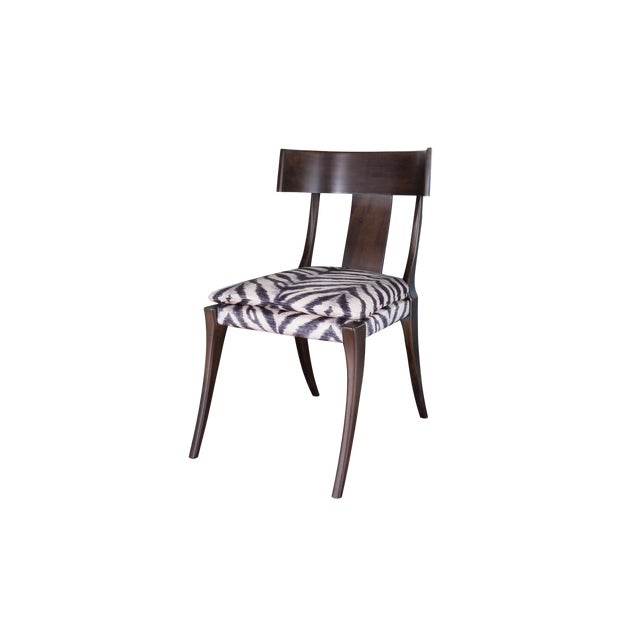 Gabriel Zebra Print Upholstered Seat Chair For Sale