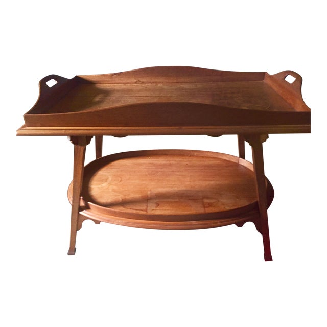 """Truex American Furniture """"Curated"""" 1910 Belgian Butlers Table For Sale"""