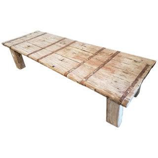 Antique Indian Door Coffee Table For Sale