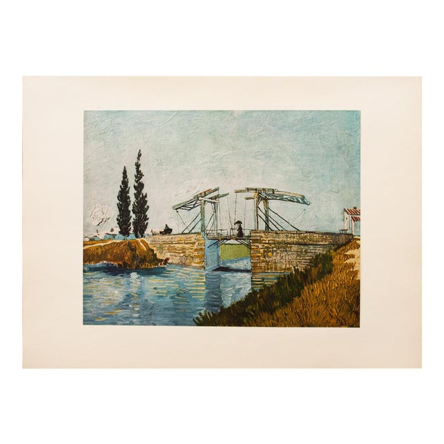 """1950s Van Gogh, First Edition Vintage Lithograph """"The Drawbridge"""" For Sale"""
