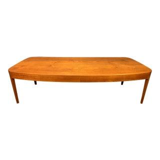 Vintage Danish Modern Teak Coffee Table For Sale