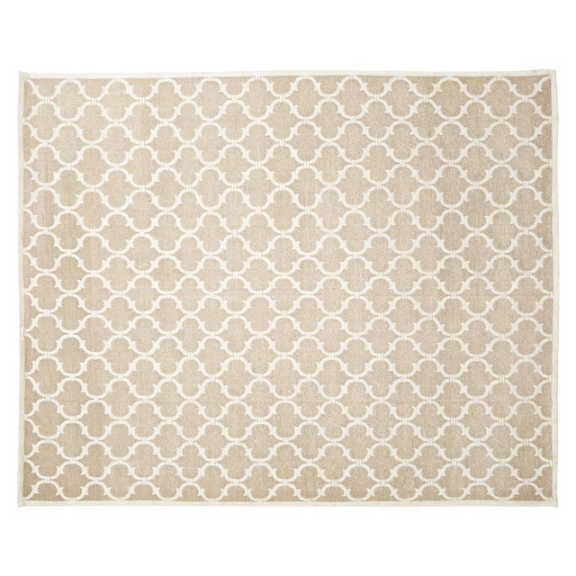"""Stark Studio Rugs Contemporary Linen Soumak Rug - 9'10"""" x 13'9"""" To care for your rug, it's best to have your rug cleaned..."""