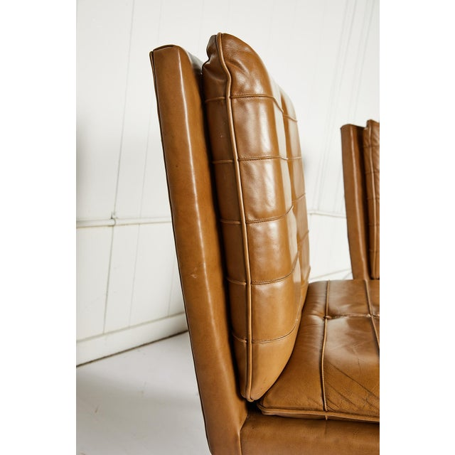 Metal Pair of Midcentury Lounge Chairs For Sale - Image 7 of 13