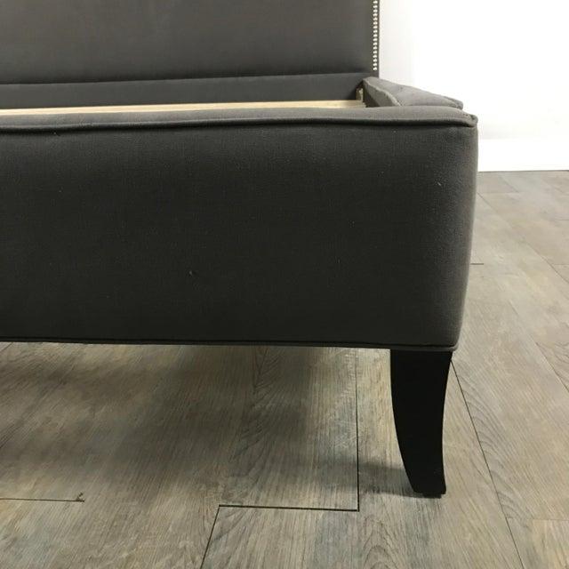 Crate & Barrel Upholstered King Bed - Image 4 of 11