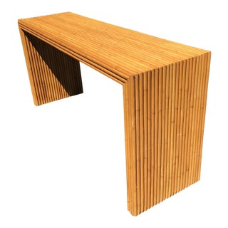 1960s Mid-Century Bamboo Console Table