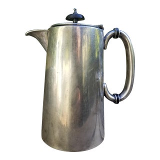 Antique Jb & Co. Sheffield Silver Plate Pitcher For Sale