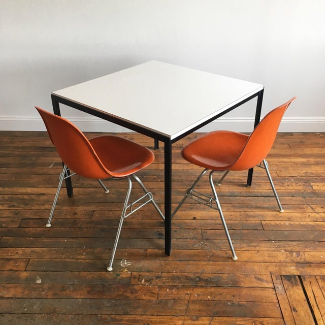 Metal 1960s Vintage Florence Knoll T-Angle Dining Table For Sale - Image 7 of 10