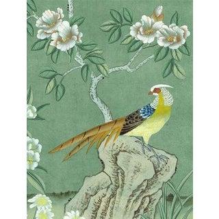Casa Cosima Emerald Quince Wallpaper Mural - Sample For Sale