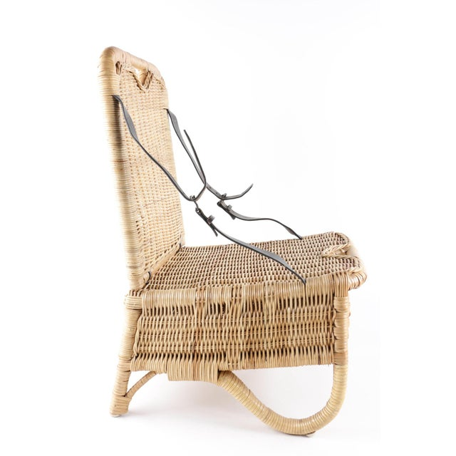 This woven wicker folding picnic chair is the perfect amount of kitsch for your home or cabin. Bring it along with you to...