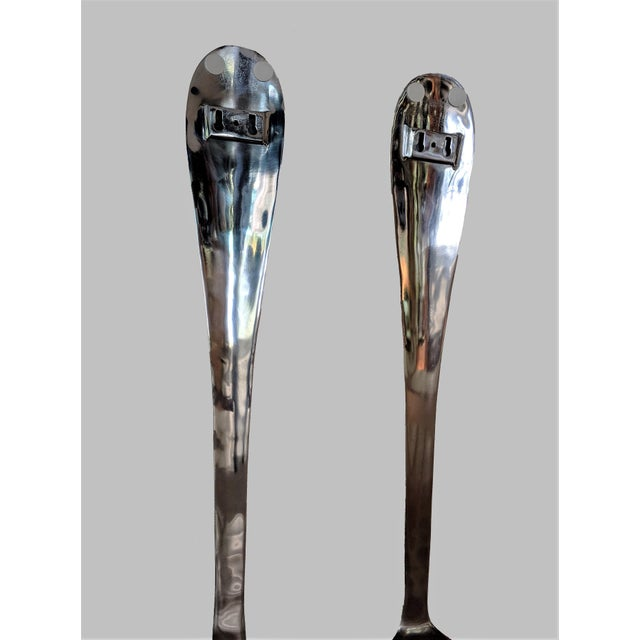 Aluminum 1970s Vintage C Jere Style Oversize Fork and Spoon Sculptures - 2 Pieces For Sale - Image 7 of 11