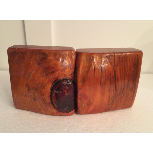 Live Edge Organic Wood Bookends - a Pair For Sale - Image 11 of 13
