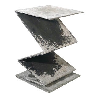1980s Architectural 'Zig Zag' Side Table or Pedestal For Sale