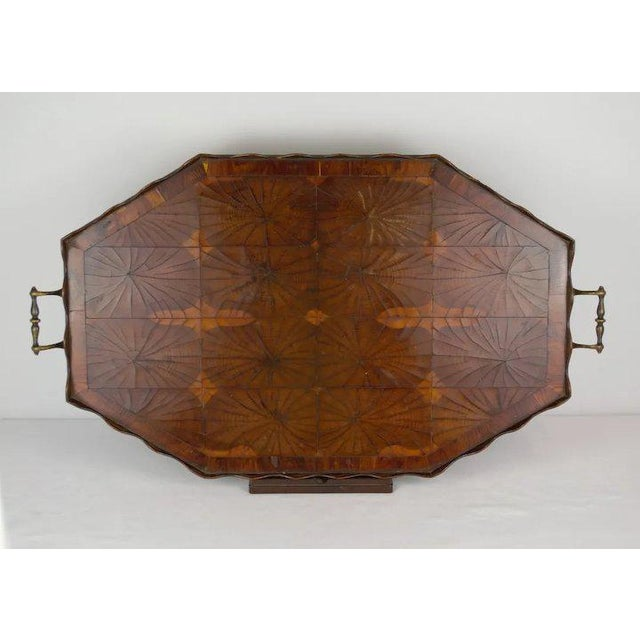 Early 20th Century Oyster Veneer Tray For Sale - Image 5 of 13
