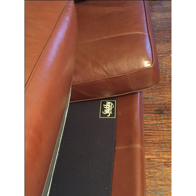 Stickley Leather and Wood Sofa - Image 6 of 7