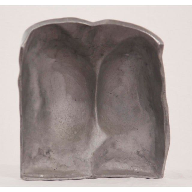 Figurative Early 20th Century Aluminum Cast Nude Posterior Sculpture For Sale - Image 3 of 3