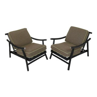 Mid Century Ficks Reed/ John Wisner Style Lounge Chairs - a Pair