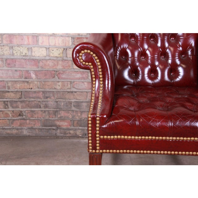 Late 20th Century Hancock & Moore Chesterfield Tufted Leather Club Chair For Sale - Image 5 of 11
