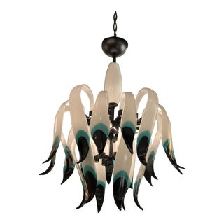 Vintage Murano Glass Chandelier For Sale