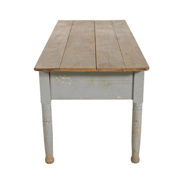 Early 20th Century American Farm Table For Sale - Image 4 of 11