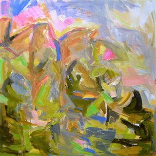 """Large Abstract Painting by Trixie Pitts """"Mountain Falls"""""""""""