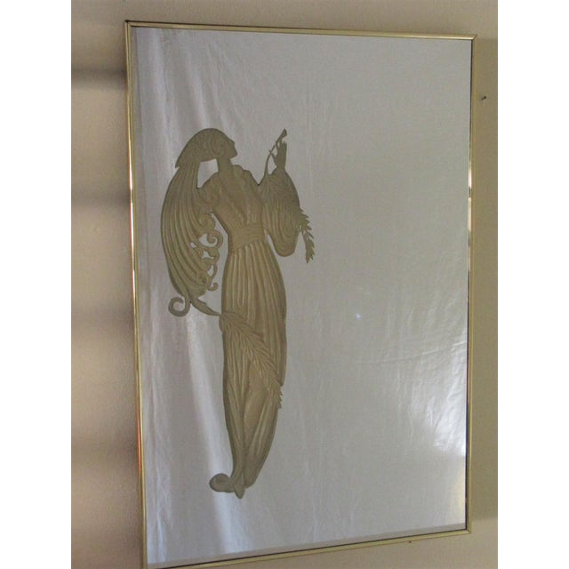 Americana Maurice Villency Deco Style Mirrors W/ Light-Up Figures - a Pair For Sale - Image 3 of 10