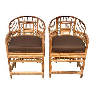 1920s Vintage Bamboo & Cane Chairs- A Pair For Sale
