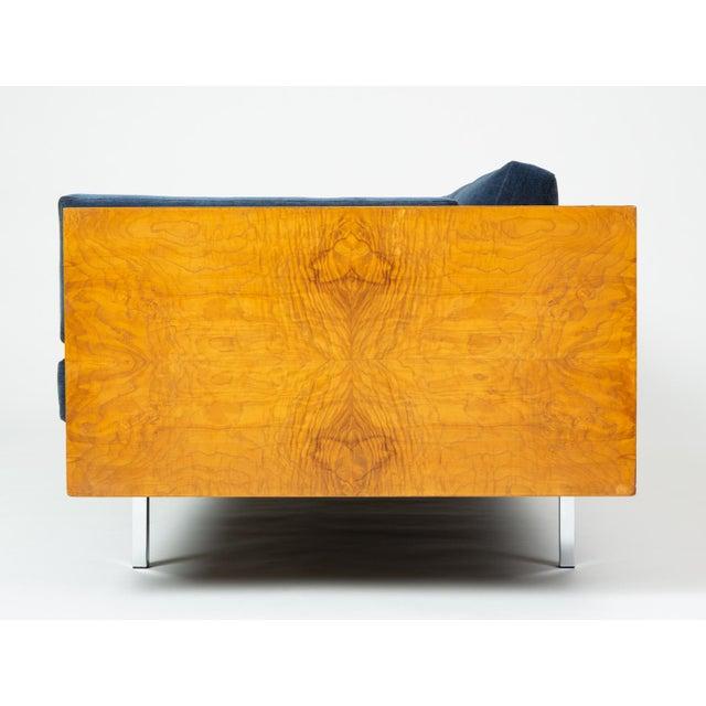 1960s Milo Baughman Burl Wood Case Sofa for Thayer Coggin For Sale - Image 5 of 13