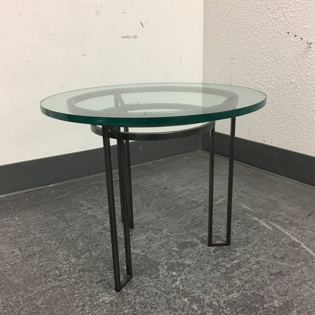 Iron Based Glass Top Side Table - Image 5 of 8