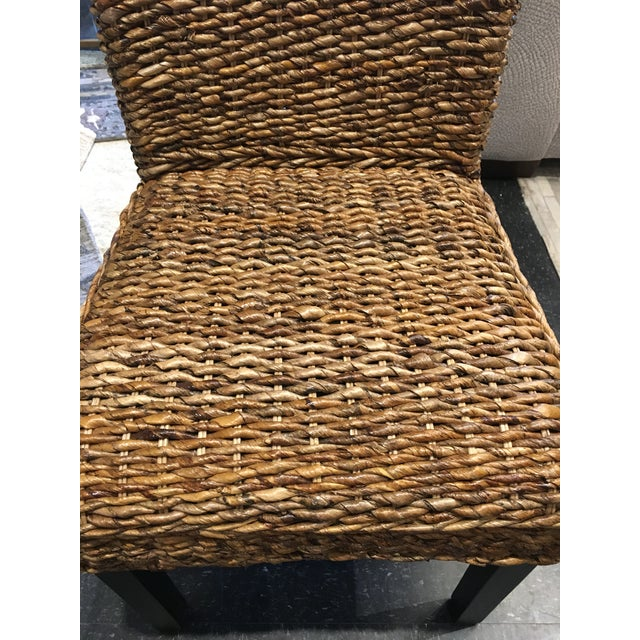 2010s Woven Rattan Dining Chair For Sale - Image 5 of 8