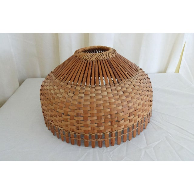 Mid-Century Modern 1960s Mid Century Modern Bamboo/Rattan Lampshade For Sale - Image 3 of 8