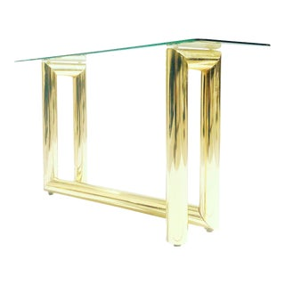 """Vintage Brass """"Z"""" Console by Karl Springer for Dia For Sale"""