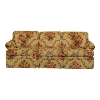 Ethan Allen Floral Damask Print Upholstered Sofa