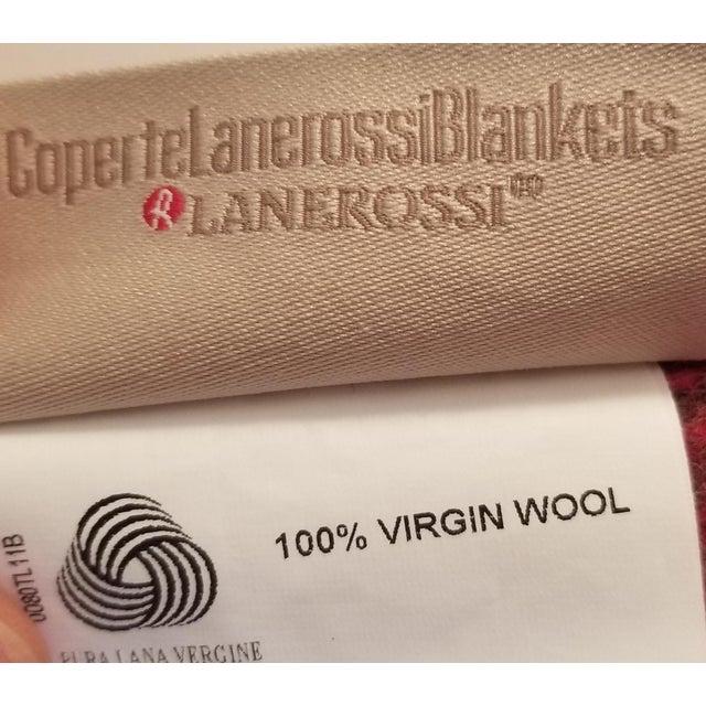 Lanerossi Italian Plaid Wool Blanket - Image 2 of 4