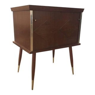 20th Century Danish Modern Record Player Stand or Side Table For Sale