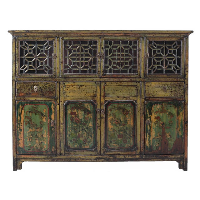 Vintage Chinese DongBei Kitchen Curio Cabinet - Image 1 of 4