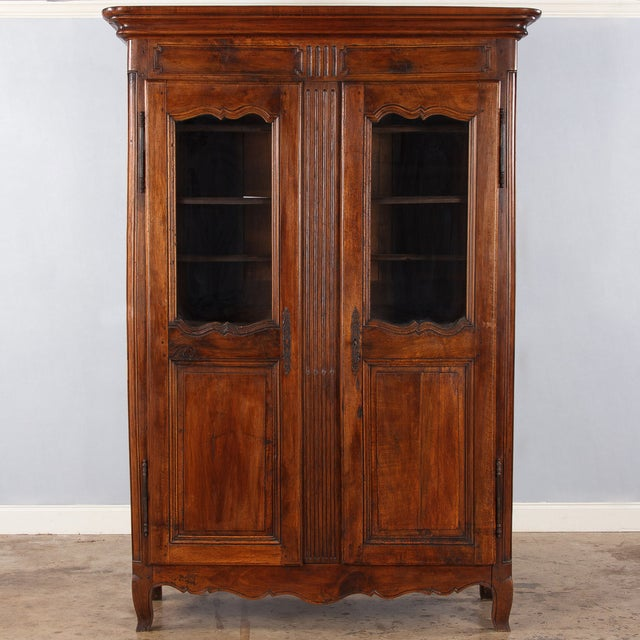 French Walnut Armoire Transition Period, 1800s - Image 4 of 10