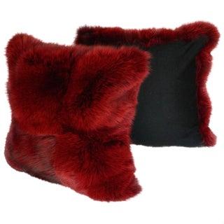 Burgundy Fox Pillows - a Pair For Sale