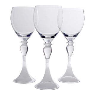 Vintage Cenedese Murano Wine Glasses - Set of 3 For Sale