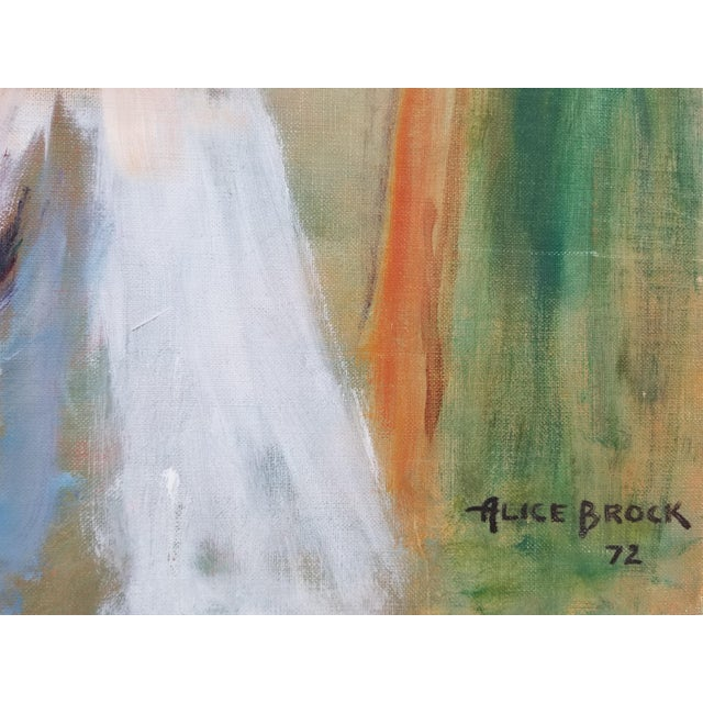 Green 1972 Alice Brock Abstract Still Life Painting For Sale - Image 8 of 12