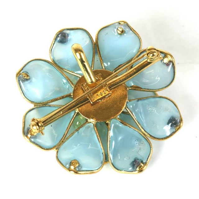 Contemporary Mwlc Aquamarine Pave Zinnia Brooch For Sale - Image 3 of 4