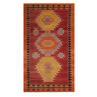 "Vintage Tribal Kilim Rug-5'6'x9'5"" For Sale"