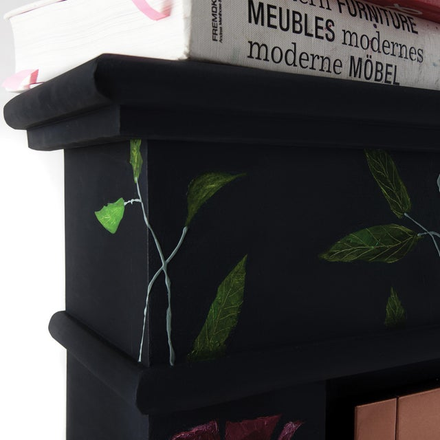 2010s The One Who Swallowed the Universe, Hand-Painted Electric Fireplace by Atelier Miru For Sale - Image 5 of 7
