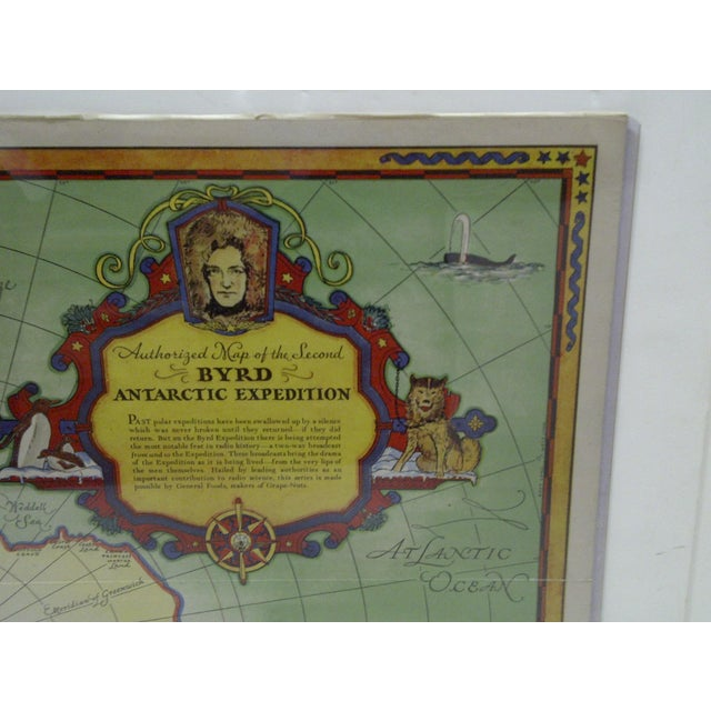 1934 Authorized Map of Second Byrd Antarctic Expedition General Foods - Image 4 of 5