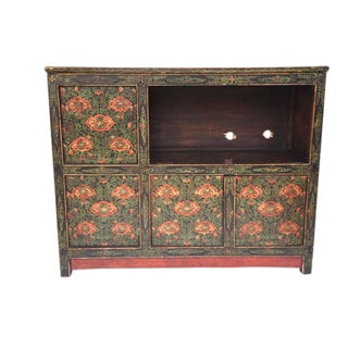 Vintage Chinese Tibetan Cabinet For Sale