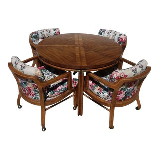 Drexel Heritage Game Table Dining Set For Sale