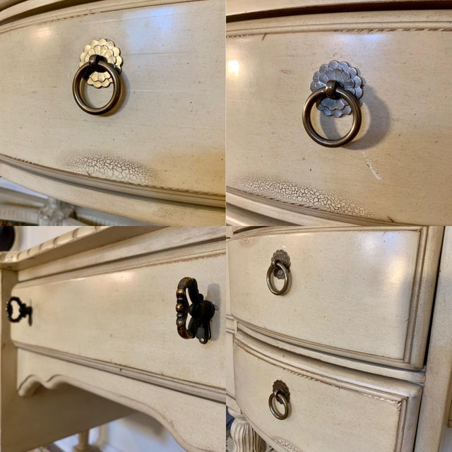 Laura Ashley for Kincaid Furniture French Provincial Style Vanity With Mirror For Sale In New York - Image 6 of 10