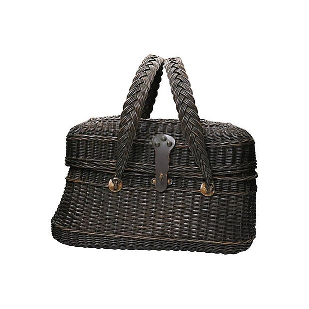 19th Century Antique French Covered Basket For Sale - Image 5 of 5