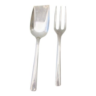 Mexican Sterling Silver Salad Set - A Pair For Sale